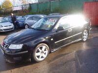 Saab 9-3 Vector,Turbo Diesel 4 door saloon,private reg,cream half leather seats,runs and drives well