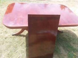 8 seater dining table..6 chairs and 2 carvers yew colour