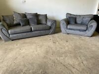 Grey Harvey's 3 seater & 1.5 seater sofas, couches, furniture 🚚🚛🚚