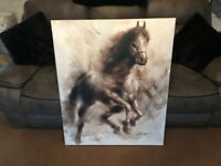 Large Horse Print on Canvas