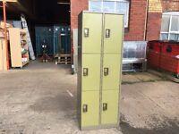 6 DOOR PERSONAL LOCKER OLIVE GREEN / BEIGE