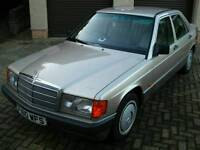 1989 F-reg Mercedes 190E (W201) 4-door automatic saloon driven every day until MOT expired 13/4/2017