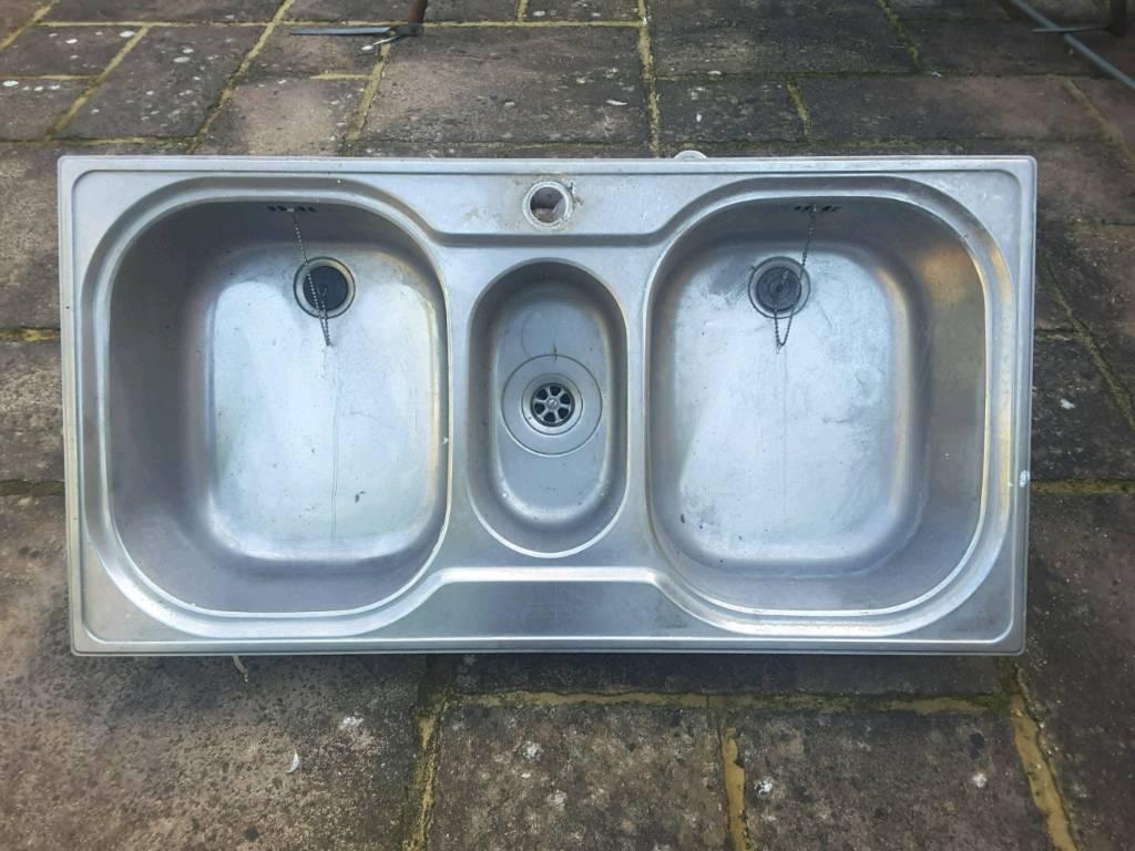 Franke 2.5 Bowl Stainless Steel Kitchen Sink, Including Waste Traps ...