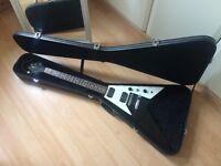 Black/White Gibson Epiphone Flying V