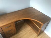 Next Hartford range solid pine wooden corner desk with drawers