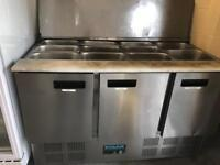 Commercial topping salad prep fridge catering equipment restaurant hotels pubs