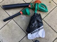 Leaf blower/vacuum with attachments - Black and Decker