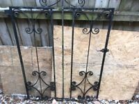 Wrought Iron Garden Gates and Fence Panels.
