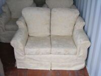 CAN DELIVER - 3 PIECES SUITE - 2-SEATER SOFA + 2 ARMCHAIRS WITH WASHABLE COVERS IN GREAT CONDITION