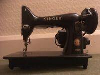 Vintage motorised Singer sewing machine