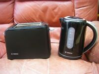 Bosch Kettle & 2 Slice Toaster in Black