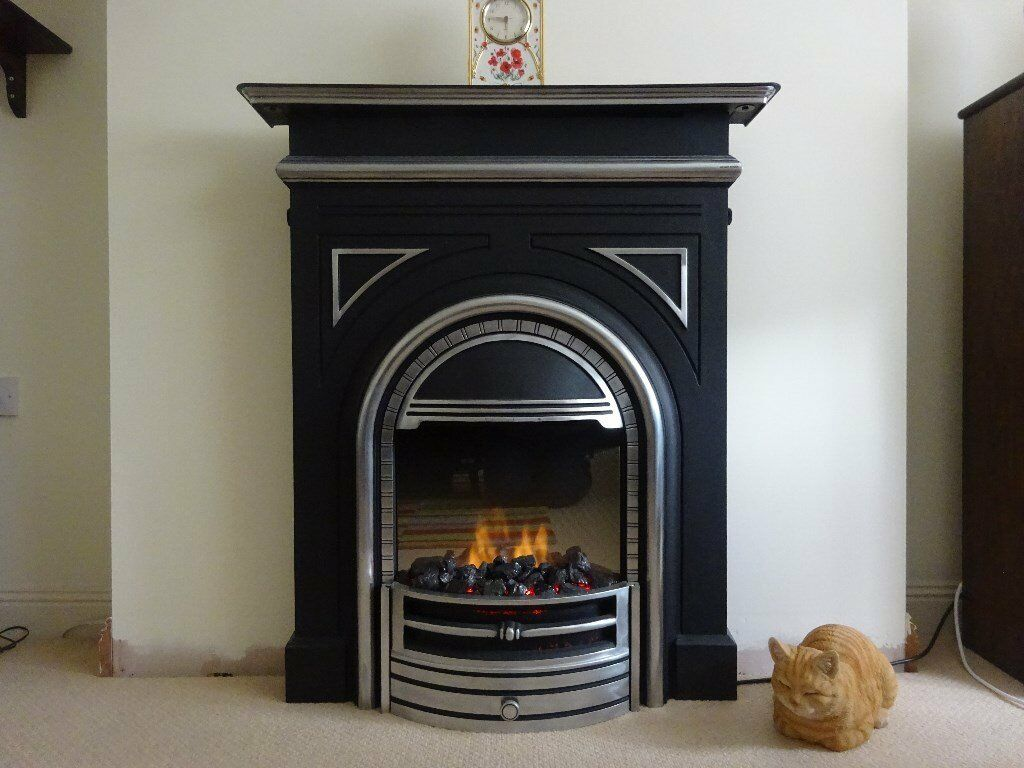 dimplex burlington victorian style electric fire suite with