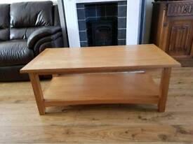 Light Oak. Solid Oak coffee table