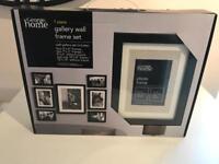 7 piece photo frame set in black. Brand new