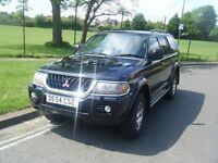 MITSUBISHI SHOGUN SPORT EUIPPE 2004 BLACK WITH BLACK INTERIOR MOT NEW CAM BELT AND BRAKES