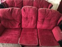 Red sofa set used! For free
