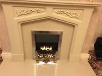Fireplace and Surround, with marble hearth and backboard for sale
