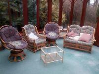 Cane Furniture 5 pieces