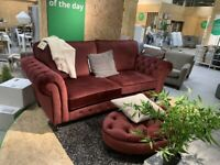 IKEA Southampton, GREVIE, 2-seat sofa, velvet dark red, WAS £550 #CircularHub