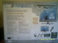 """22"""" TV/SATELLITE/DVD ALL IN ONE TELEVISION (NOT WORKING)"""