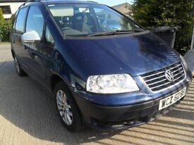 volkswagen sharan parts from 5 cars petrol and diesel from 1998 to 2007