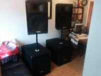 Yamaha SW118IV and S115V speaker set. Priced to sell.