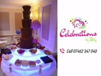 Chocolate Fountain, Candy floss, Popcorn, Candy Cart, Dessert Tables Hire / Wedding & Party Planner