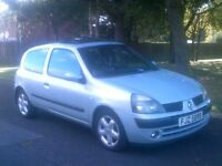 IMMACULATE LOW MILAGE 2003 RENAULT CLIO 1.2 3DOOR T/BELT REPLACED MOTD JULY 2017 FORD,CORSA,PEUGEOT