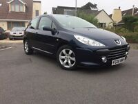 2008 08 PEUGEOT 307 1.6 S VERY LOW MILES 45k 11 MONTHS MOT FULL SERVICE HISTORY VERY GOOD CONDITION