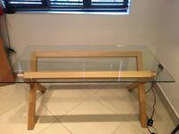 Habitat Dublin 4 Seater Oak And Glass Dining Table, £170 or nearest offer, New = £375