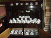 Lovely Collection Bone China Vintage Floral Cups & Saucers , Trio's Tea Party Room Collect