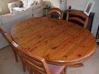 Ducal Pine extending dining room table