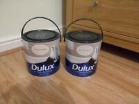 Dulux Matt Emulsion (2 x 2.5 Litres), Gentle Fawn, (New, unopened)