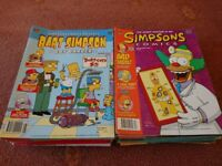 60 Simpsons Comics & 12 Simpsons Books + Simpsons Lunchbox, Playing Cards & Tin