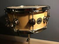 Dw Collectors Maple Snare 14 x 6 Satin Natural Finish