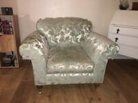 House of Fraser Suite of Furniture (sofa / chair/footstool)