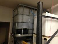 600 litre ibc water storage tank container