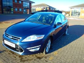 Ford Mondeo Titanium 2ltr TDCI 140 comes with all titanium extras. metalic blue. 12mths mot