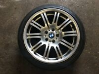 Genuine BMW E46 M3 19 inch Rear Alloy Wheel 9.5x19 5x120 Excellent Kumho Ecsta LE Sport Tyre