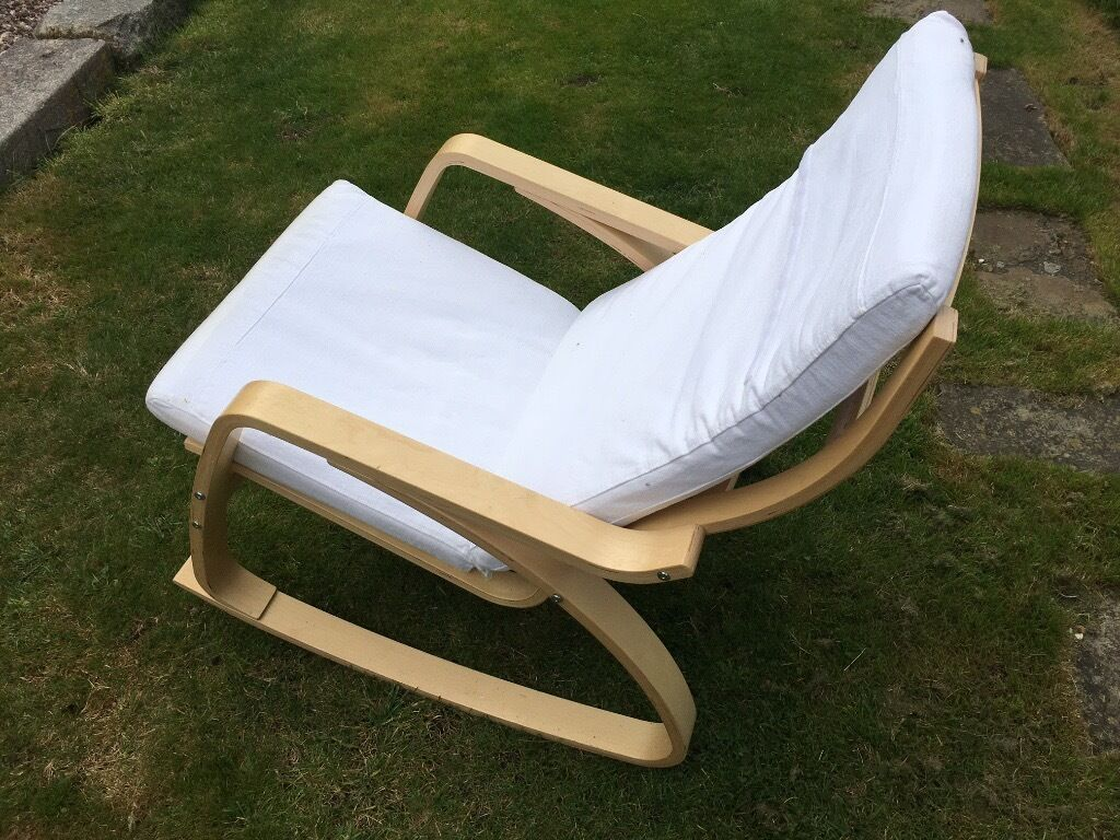 White Ikea Poang Rocking Chair In Bow London Gumtree