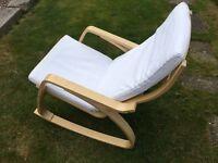 White Ikea Poang Rocking Chair
