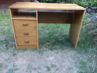 Lovely well loved wooden desk for sale