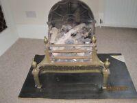 Cast iron log effect gas fire
