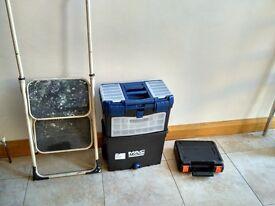 Bargain Job lot Black & Decker RS890 Autoselect Scorpion Saw 500w 230v + step ladder + tool box
