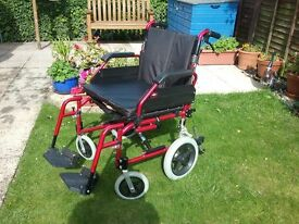 "20"" Enigma Transit Wheelchair. NEW PRICE"