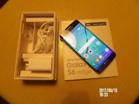 Samsung S6 Edge 64GB Saphire Black Unlocked Mint Condition