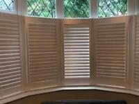 Wooden shutters brand new boxed bay window collection luton