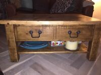 AMAZING! Solid oak coffee table and sideboard