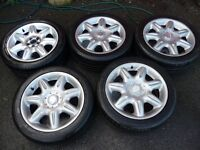 "Five Rover 75 17"" Meteor alloy wheels with tyres"