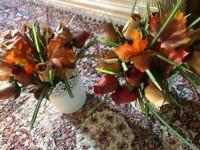 2 X artificial flowers